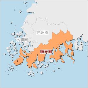 全羅南道圏別地図(順天圏)
