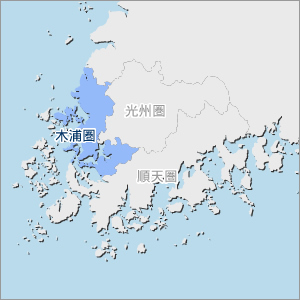 全羅南道圏別地図(木浦圏)